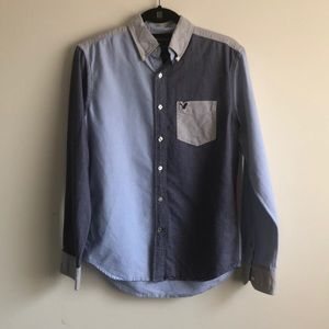 Two-toned Denim Button Up - American Eagle